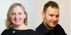 Neu in der SPD Vorstandschaft Anna Kreilinger-Pitters und Konstantin Friedrich